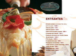 Carta platos Restaurante